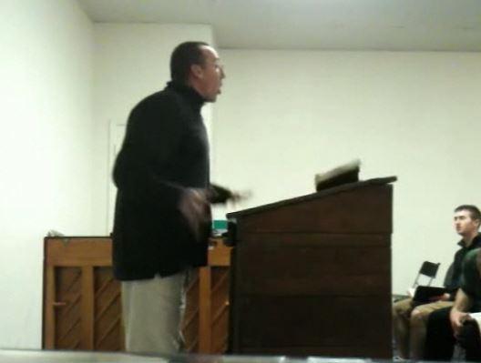 Bold preacher slams the pulpit