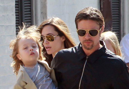 Brad Pitt and Angelina Jolie's firstborn daughter as a toddler