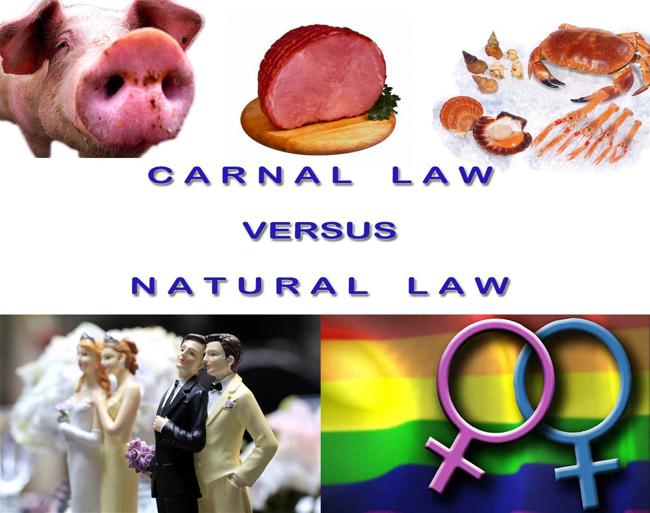 Carnal Ordinances versus Natural Law
