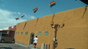 Fag flags on the Queer church [2012]