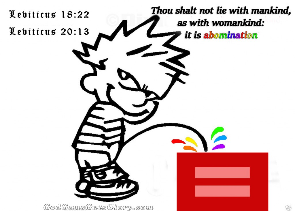 Calvin Piss on lgbt equal sign-BlackRainbow 4G