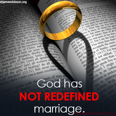 God has not redefined marriage