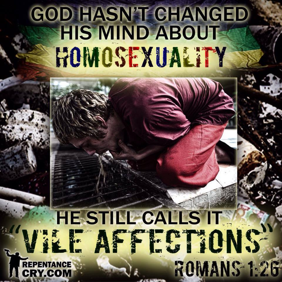 God hasnt changed his mind about homosexuality