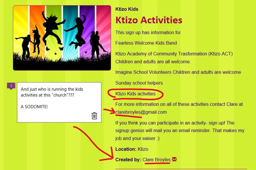 Ktizo UCC 02 Facebook mod and kids activity person is a fag